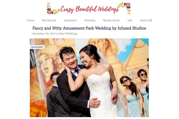 Crazy Beautiful Weddings feature of Jessica + Kevin
