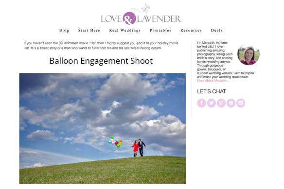 Up inspired engagement photos on Love & Lavender