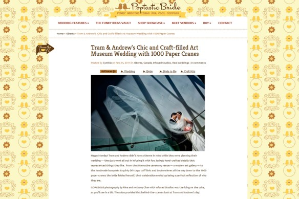 Tram + Andrew (Wedding) :: Featured Wedding on Poptastic Bride
