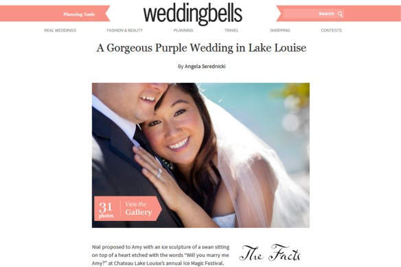 weddingbells :: Amy + Nail's Lake Louise Destination Wedding