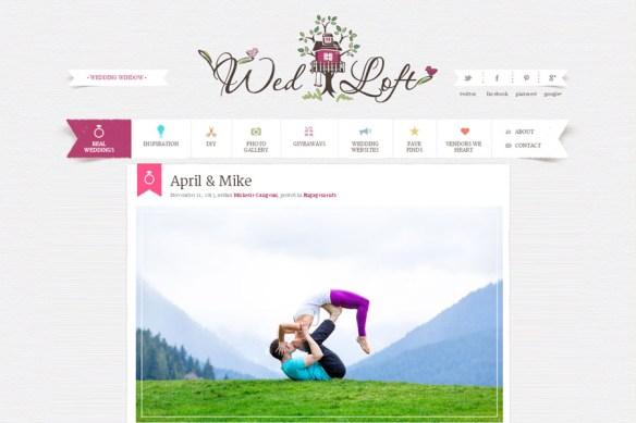 Yoga Themed Engagement Shoot on Wedloft