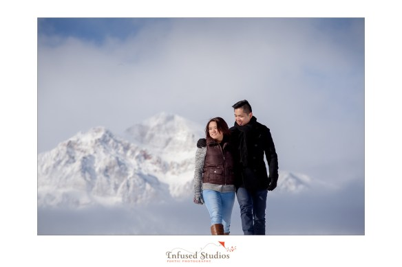 Edmonton wedding photographers :: Rocky Mountain snowy engagement