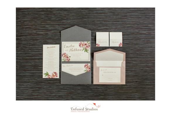 Paris inspired styled wedding shoot by Edmonton wedding photographers :: stationary