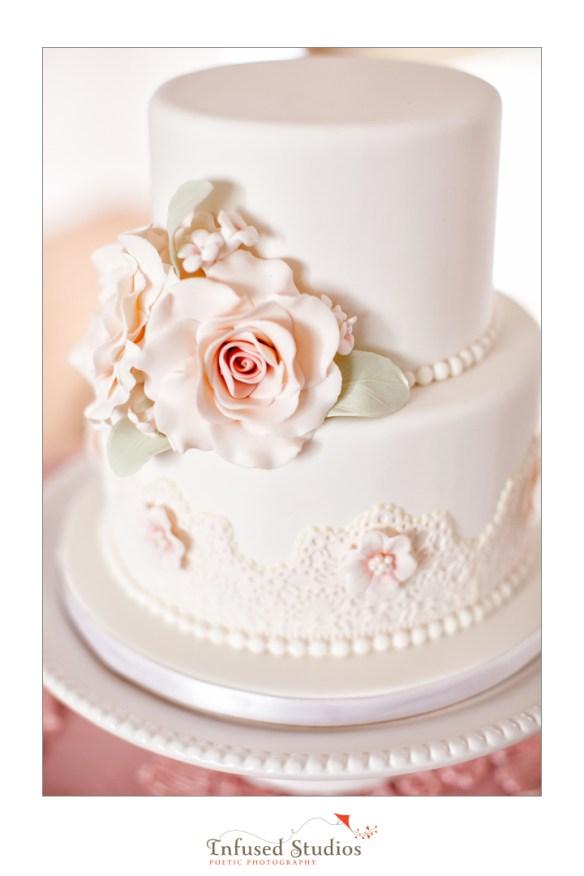 Paris inspired styled wedding shoot by Edmonton wedding photographers :: cake
