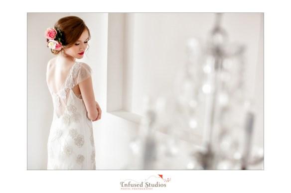 Paris inspired styled wedding shoot by Edmonton wedding photographers :: embroidered wedding dress