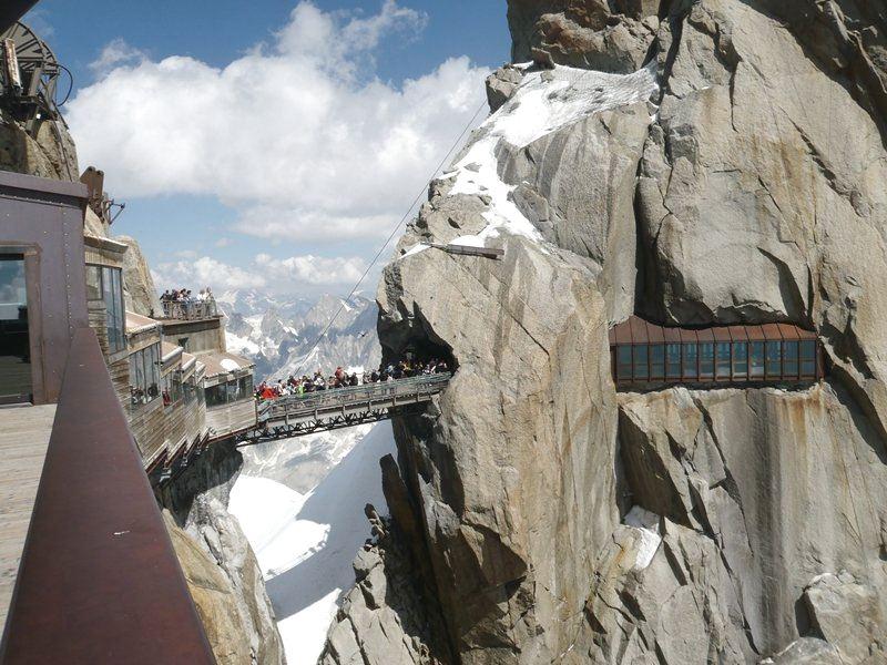 3d Changing Wallpaper Aiguille Du Midi Bridge France Infy World