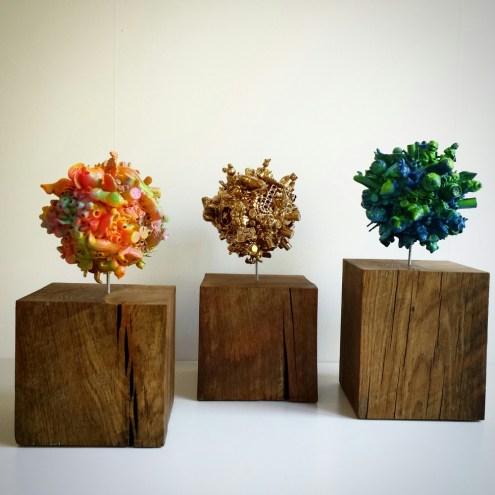 3 klots on wood