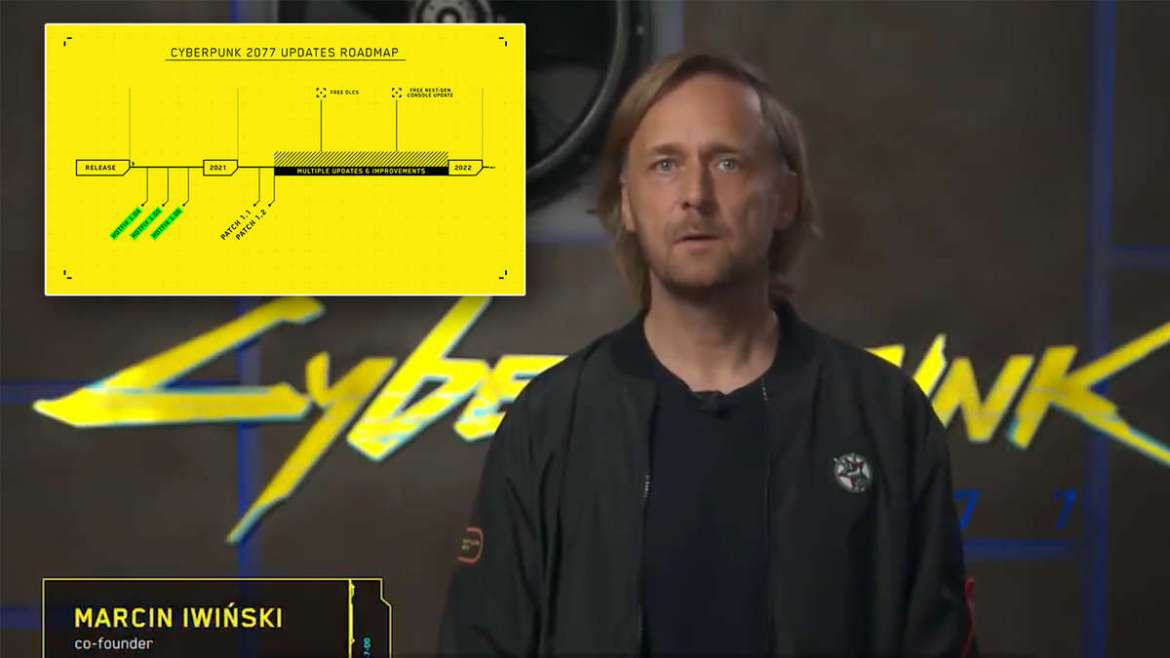 Cyberpunk 2077: Video appeal from CD Projekt RED about updates and patches