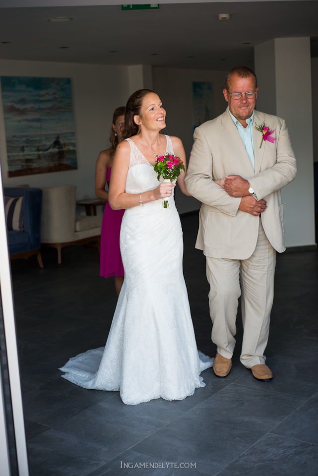 bride with the father
