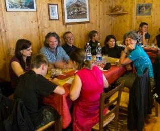 Dinner at rifugio Biella