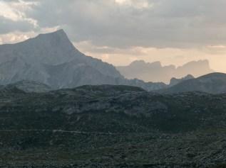 Dolomites at dusk