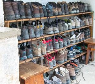 Boot rack at rif Vazzoler