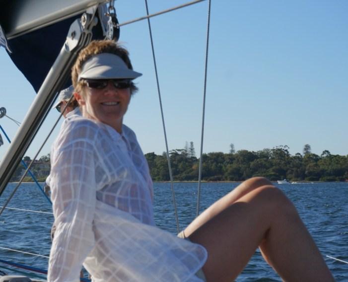 Inge on the boat