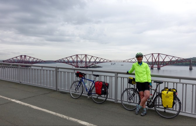 Railway bridge over the Firth of Forth.