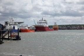 North Sea oil rig service ships, Montrose.