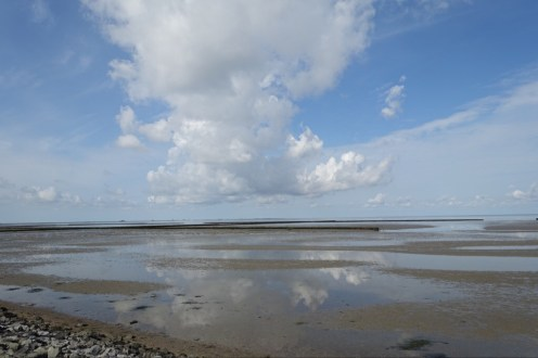 Mudflats by the North Sea