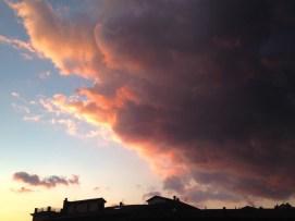 Evening sky over Rieti