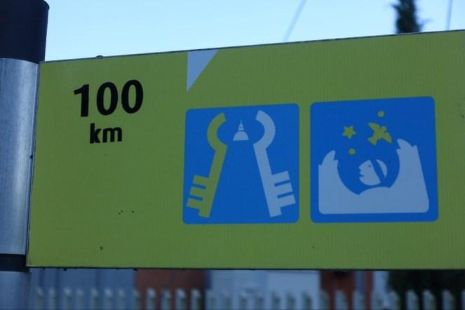 100 km to go