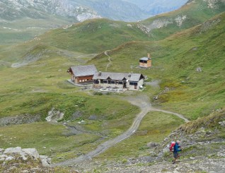 Day 8, leaving Refuge Col du Palet.