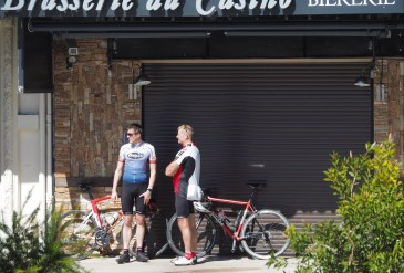 Sunday cyclists.