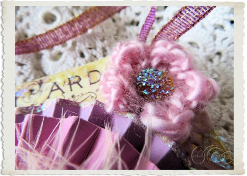 Details of glitter flower