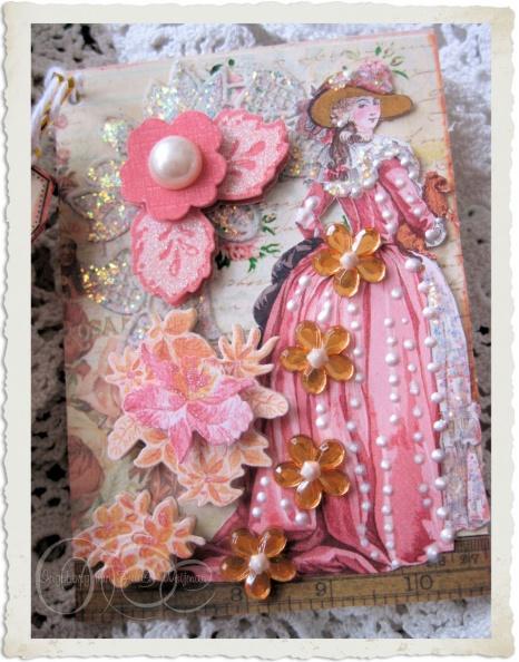 Handmade Artist Trading Card with Marie-Antoinette by Ingeborg van Zuiden