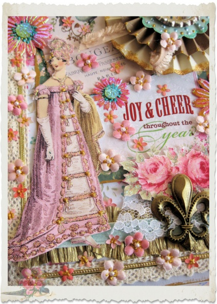 details of REgency Christmas card by Ingeborg van Zuiden