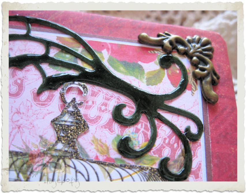 Decorative corner details of young ladies journal by Ingeborg van Zuiden