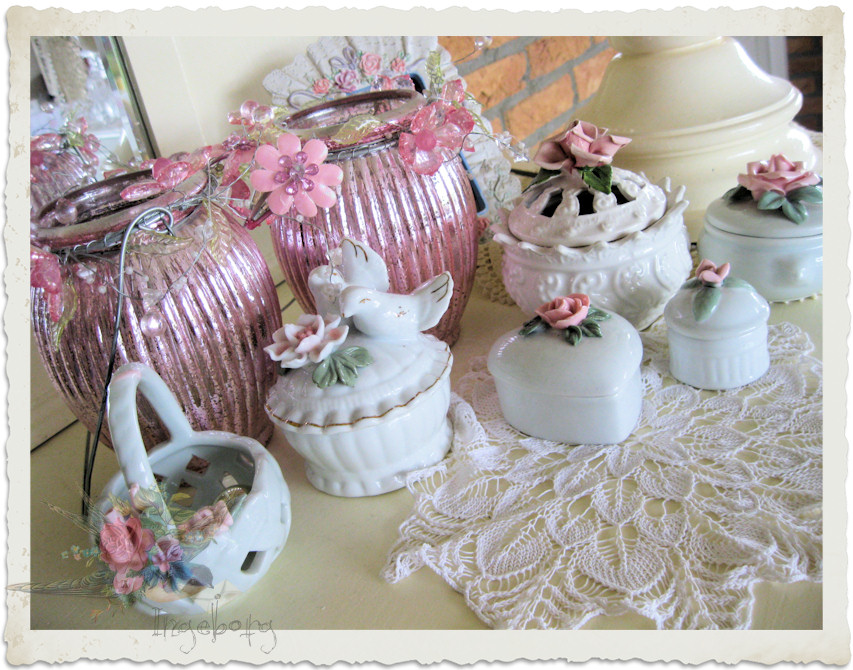 shabby chic trinket boxes