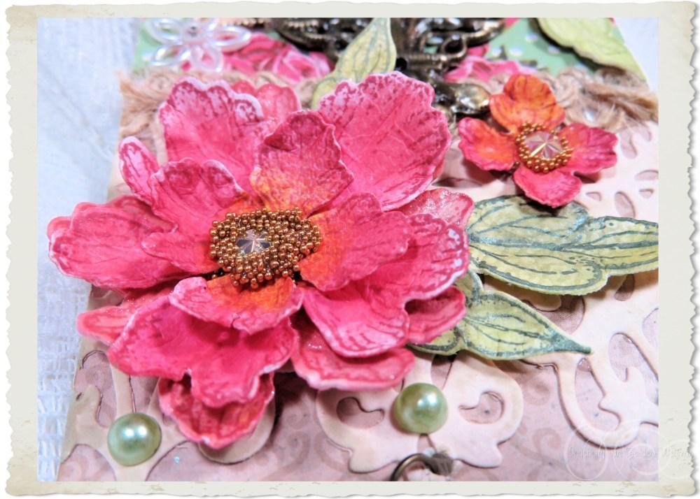 Pink Hearfelt Creations paper flower by Ingeborg van Zuiden