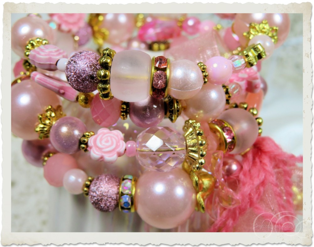 Pink beads