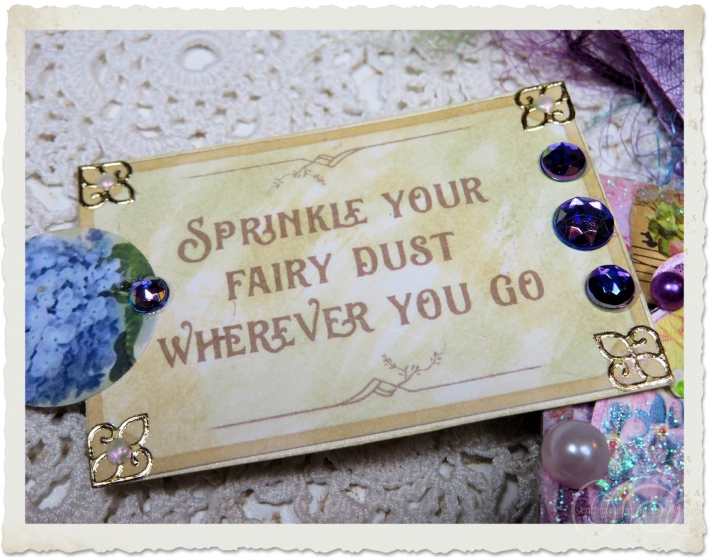Worart paper tag fairy dust