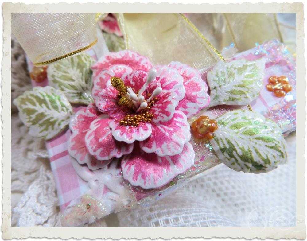 3d painted pink paper flower by Ingeborg van Zuiden