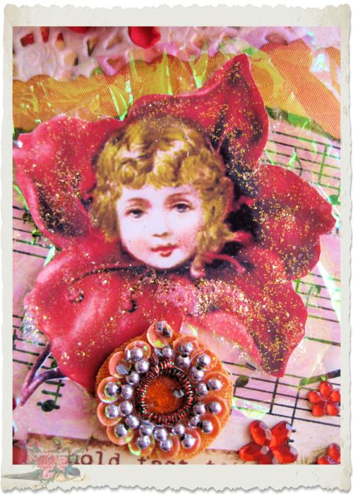 Mixed media victorian fairy by Ingeborg van Zuiden