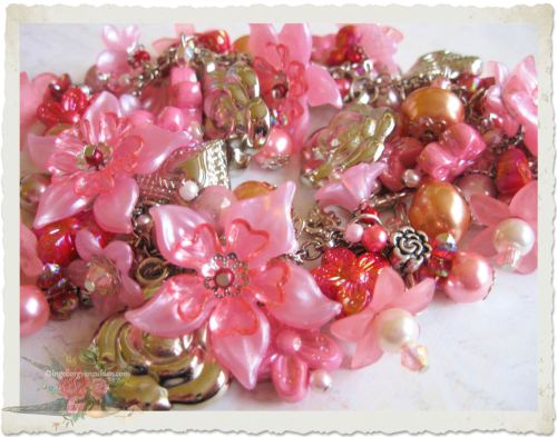 pink charm bracelet by Ingeborg van Zuiden