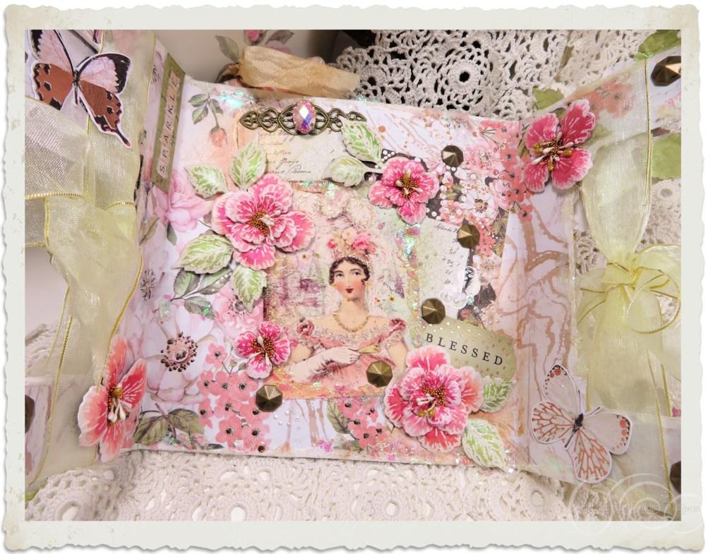 Inside of handmade Regency style greeting card