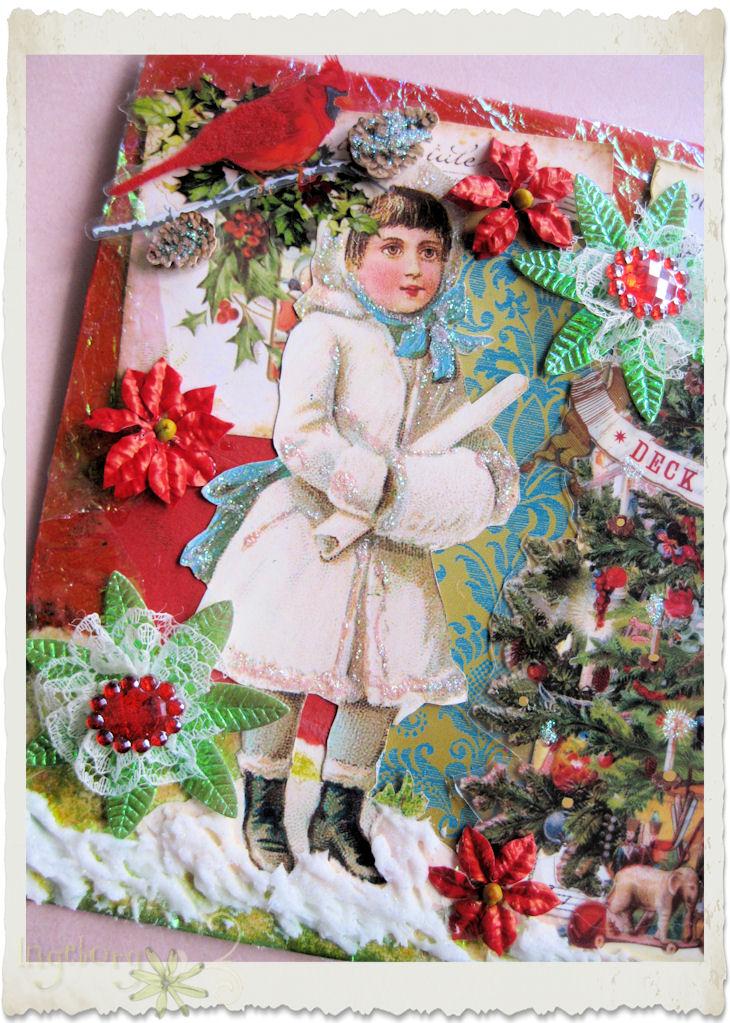 Details of vintage snow fairy