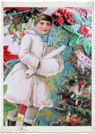 Details of vintage snow fairy