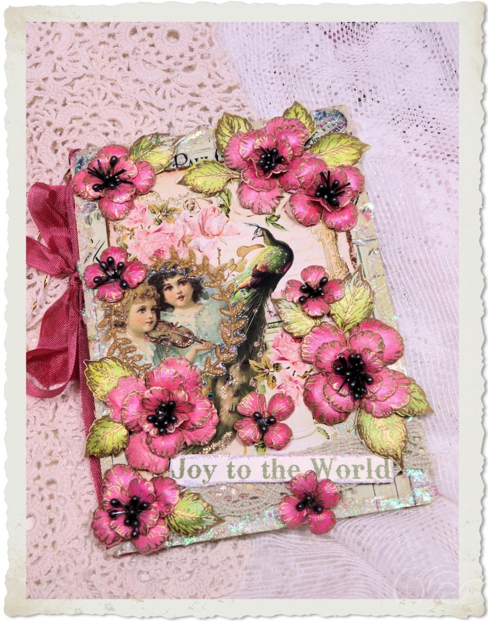 Handmade Joy to the World Christmas card by Ingeborg van Zuiden