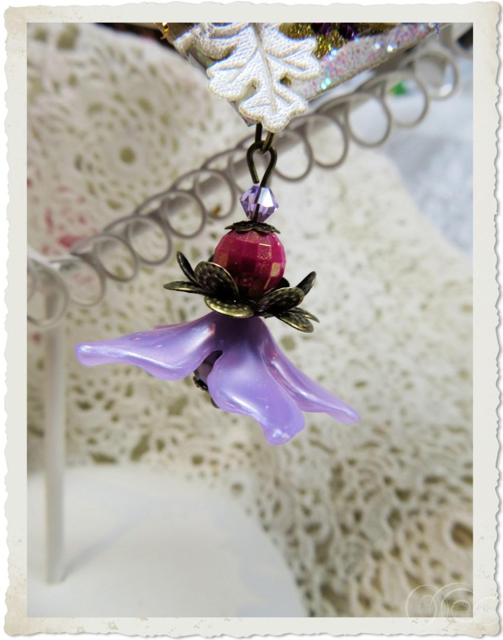 Beaded flower dangle