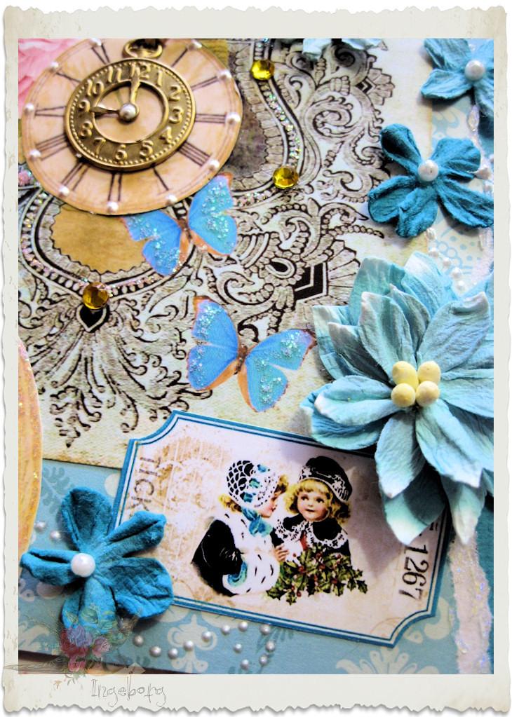Dutch ticket with blue Petaloo flowers