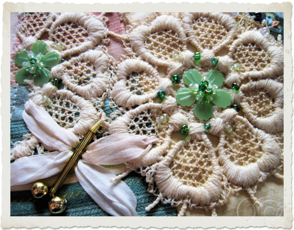Lace flowers and beads