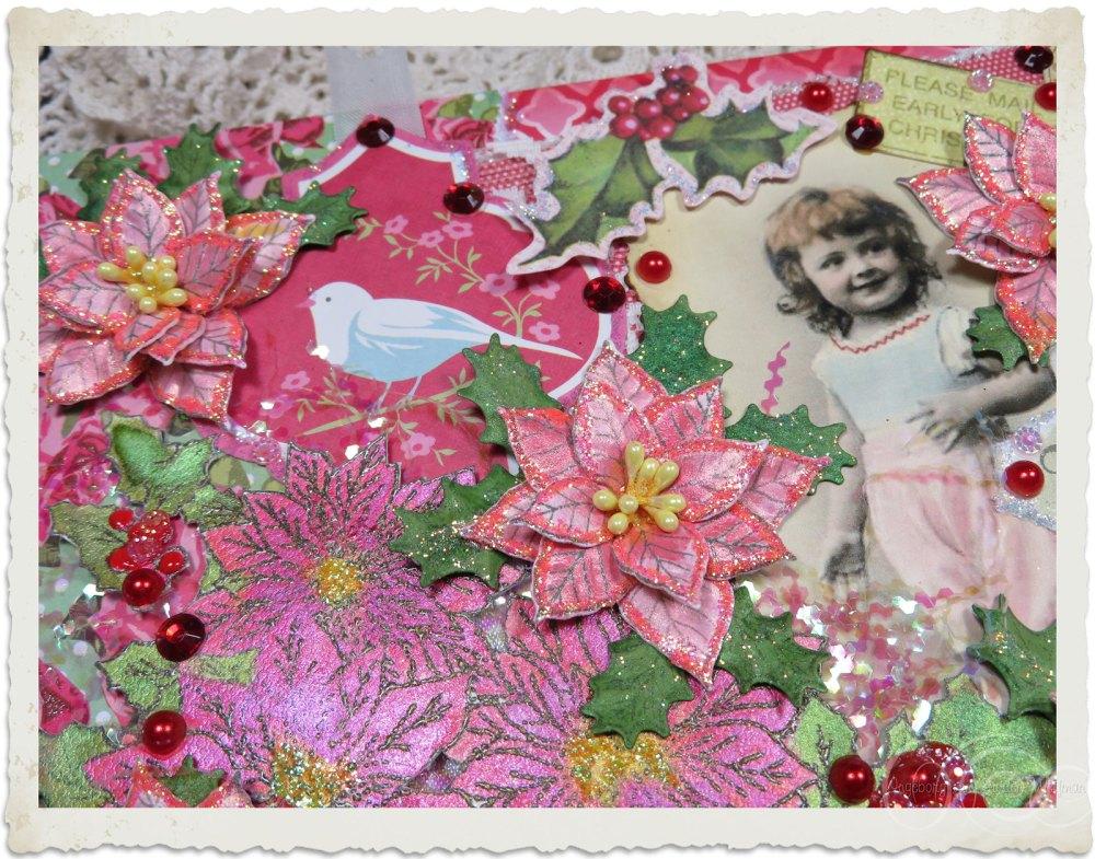 Details of Heartfelt Creations Poinsettia flowers by Ingeborg van Zuiden