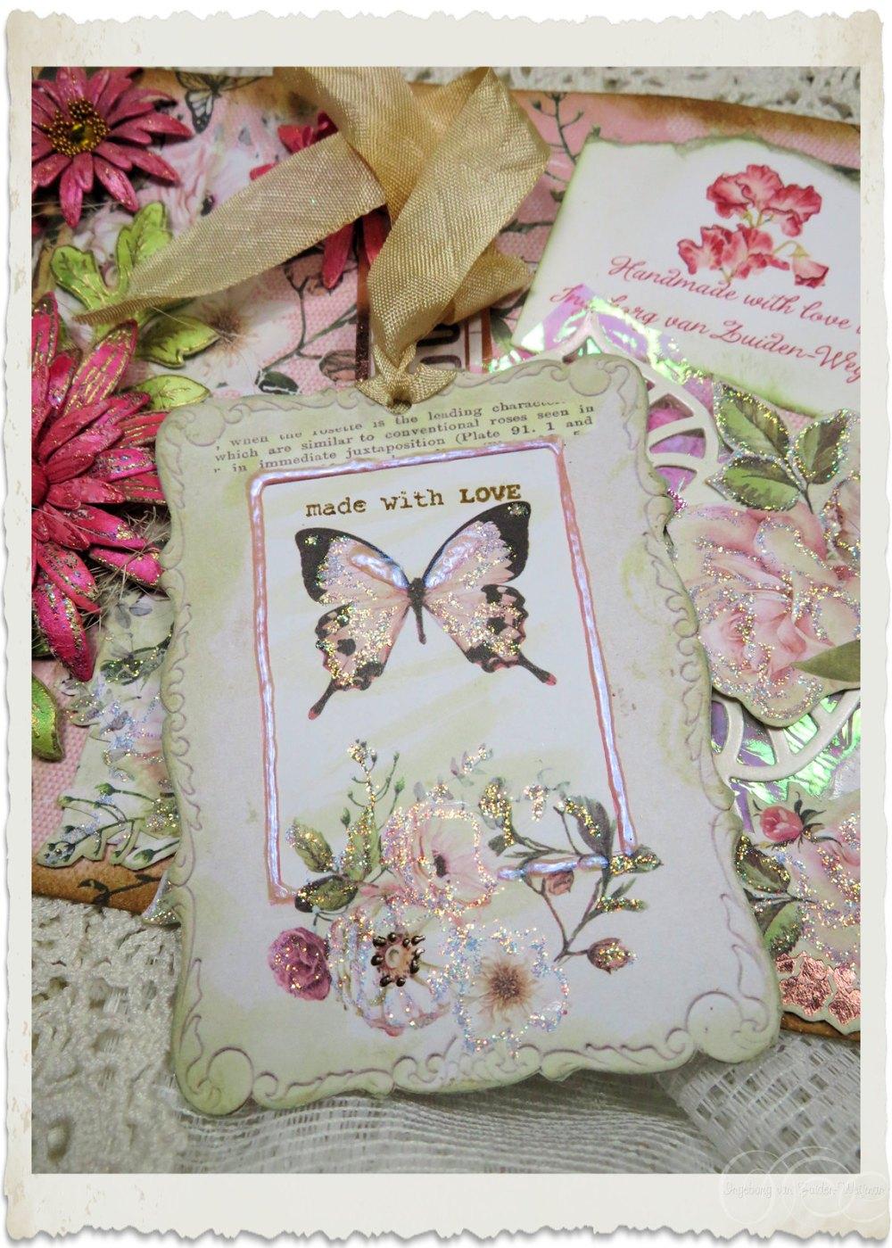 Handmade shabby chic notecard