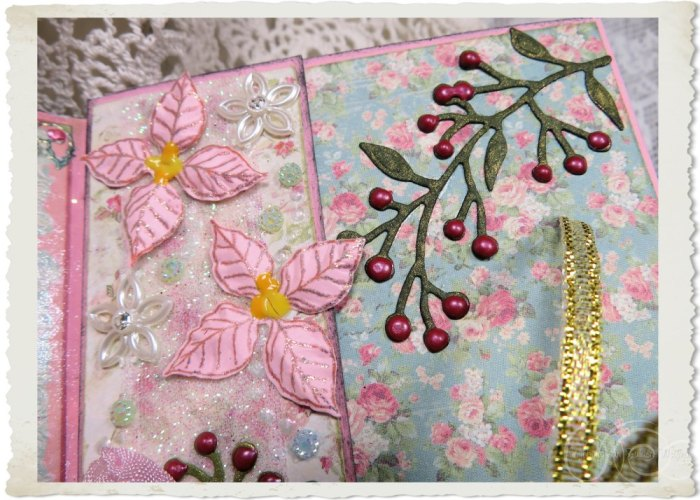 Heartfelt Creations pink Poinsettia flowers
