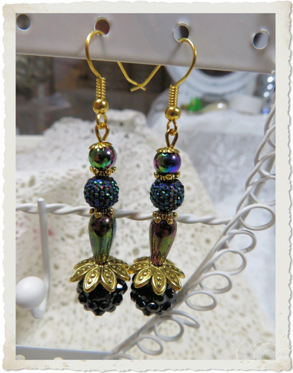 Ab beaded earrings