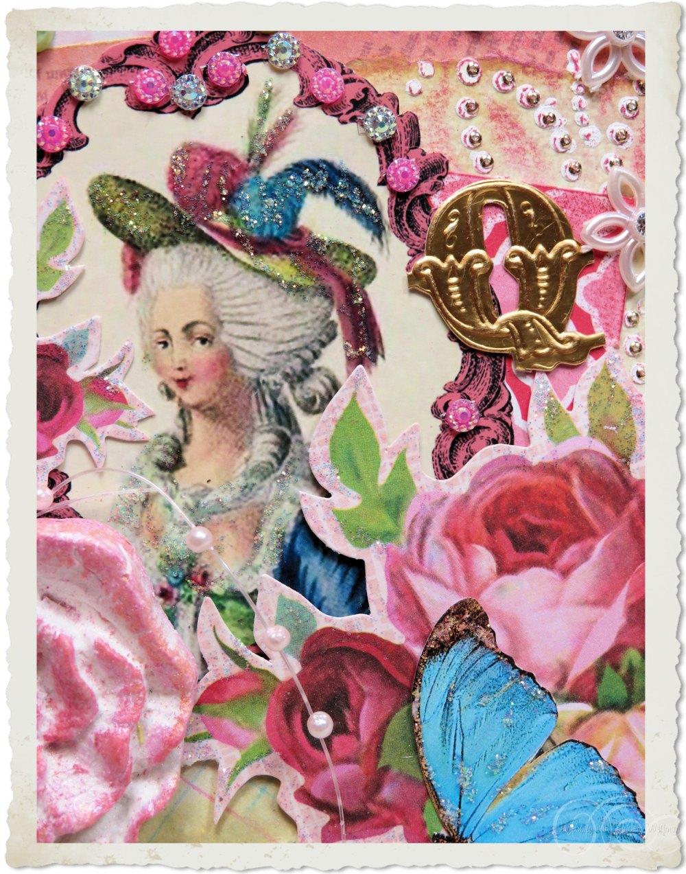 Marie-Antoinette card art by Ingeborg van Zuiden