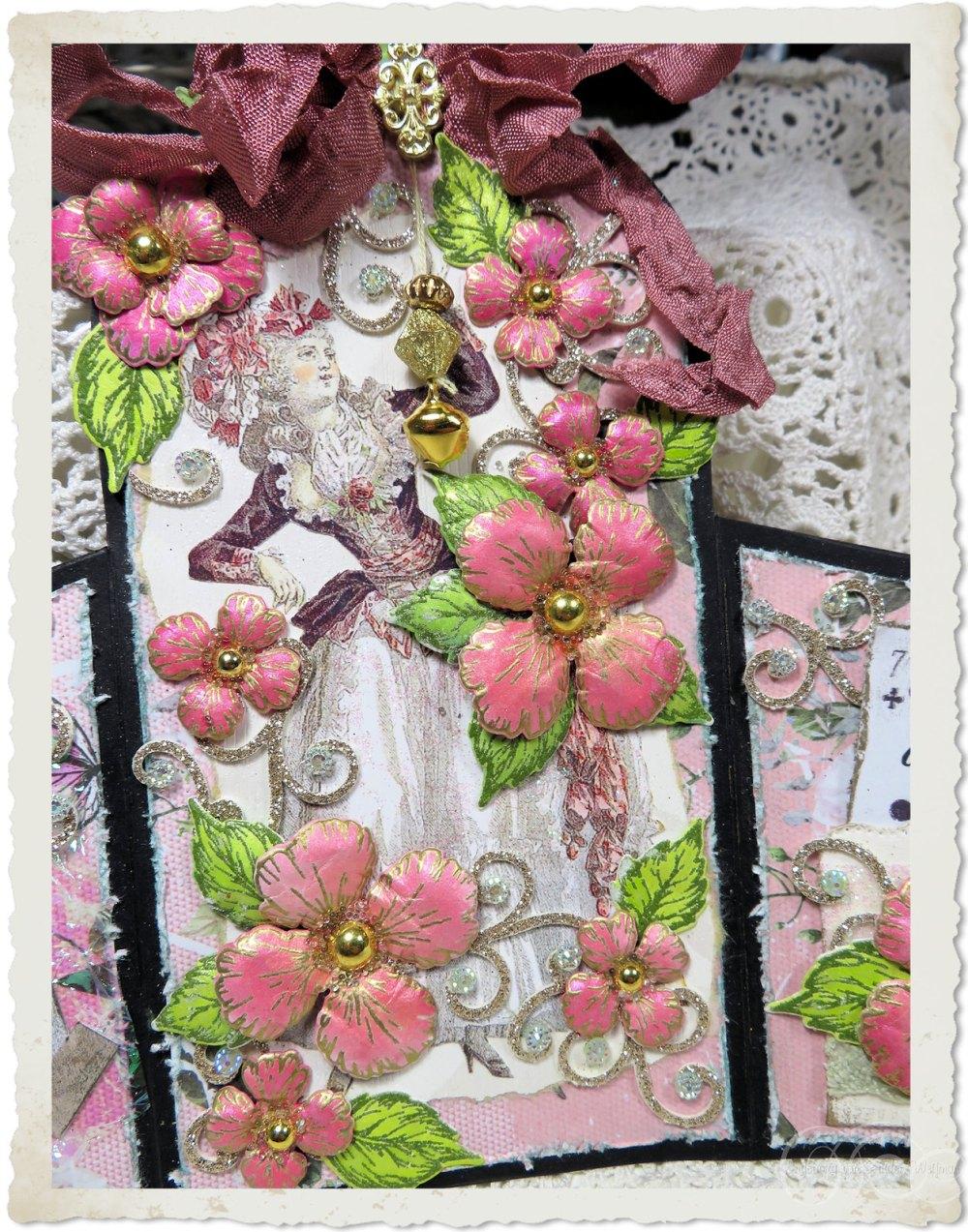 Details of handmade Marie card by Ingeborg van Zuiden
