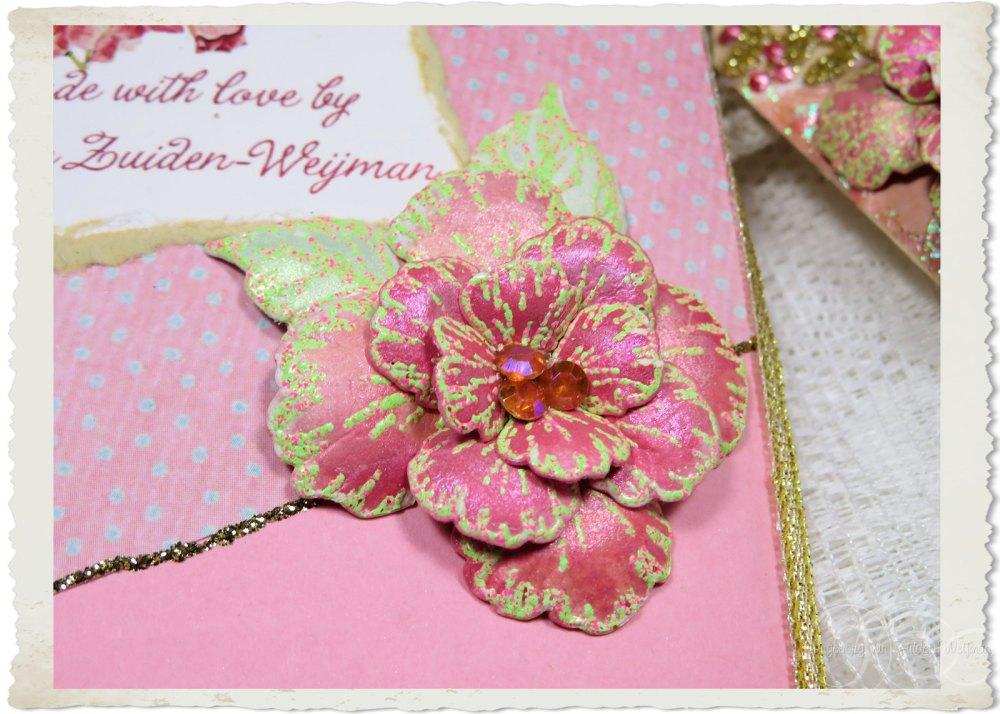 Pink Oakberry Lane paper flower by Ingeborg van Zuiden Weijman