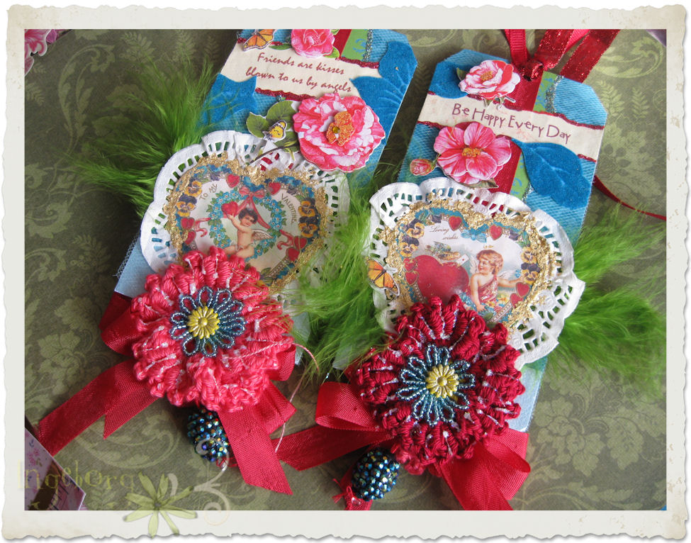 Set of two Valentine tags